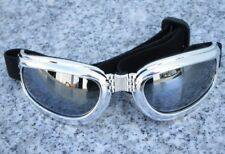 PS Chrome Folding UV400 PADDED MOTORCYCLE GOGGLES