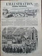 L'ILLUSTRATION 1850 N 407 BANQUET DANS LA SALLE DE L'HORLOGE A L' HOTEL DE VILLE