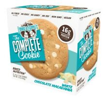 NEW LENNY & LARRY'S THE COMPLETE COOKIE WHITE CHOCOLATE MACADAMIA 4 COOKIES 16OZ