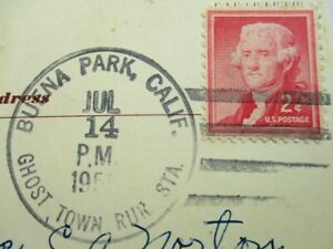 1956 Jefferson 2 cent U.S. Postage Stamp Ghost Town RUR Sta. Post Card