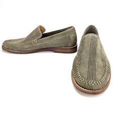 Tommy Bahama Felton Loafer Nubuck Perforated Slip-On Shoes Mushroom Gray Size 7M