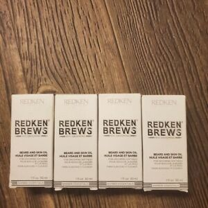 Redken Brews Beard and Skin Oil 1 fl oz (Pack of 4) FAST SHIPPING