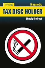 Taxi, Bus, Car, Van & Lorry Interior No Smoking Secure Magnetic Tax Disc Holder