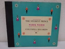 """MAREK WEBER Selections From The Student Prince 10""""/78 rpm 4-Disc Book Set C-134"""