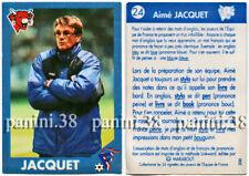 """RARE !! Vignette JACQUET """"EQUIPE DE FRANCE 1996"""" Panini VACHE QUI RIT"""