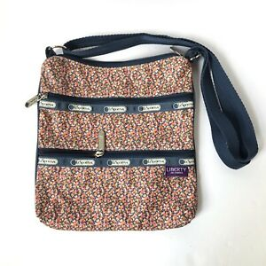 LeSportsac x LIBERTY Art Fabrics Three Zip Crossbody Floral Cotton Coated