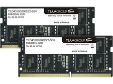 Team Elite 16GB (2 x 8GB) 260-Pin DDR4 SO-DIMM DDR4 3200 (PC4 25600) Laptop Memo