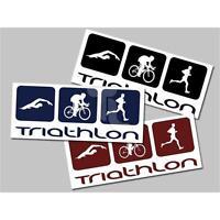 Triathlon Aufkleber verschiedene Farben, Größen Sticker Triathlonladen NEU