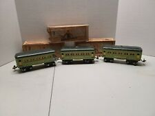27/136 Vintage Prewar Lionel O Gauge (2) 607, 608 Passenger Car Set With Boxes