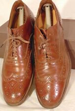 VINTAGE ALDEN NEW ENGLAND MENS DRESS SHOES BROWN WINGTIP 9 EEE (166F)