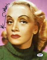 Marlene Dietrich Psa Dna Coa Autograph 8x10 Photo Hand Signed