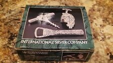 INternational silver Co Silverplated/Antique finish 3 pcs Bar Set (B# 1008)