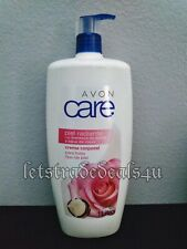 Avon Care ROSE WATER & SHEA BUTTER Body Lotion Family sz 1 liter/33.8oz Exp 2022