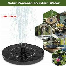 Solar Fountain Water Pump Bird Panel Garden Pond Pool Decor Submersible Watering