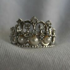 Princess Diana Cambridge Lover's Knot 925 Tiara Ring Franklin Mint RETIRED