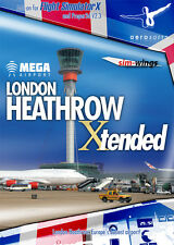 Mega Airport London Heathrow Xtended ADD ON FS X (PC-DVD) NEW SEALED ENGLISH