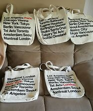 AMERICAN APPAREL Beige Canvas Bull Denim  City Tote Bag NWT SOLD SEPARATELY