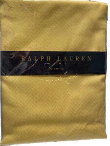 "Ralph Lauren Home Sun Valley Yellow 60"" X 84"" Oval Tablecloth NOS"