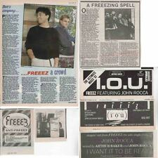 FREEEZ : CUTTINGS COLLECTION -adverts interviews-