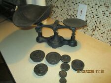 Antique Cast Iron Fairbanks No. 3 Candy Balance Scale w/  Tray & Weights