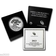 2013-P ATB GREAT BASIN 5 OZ. SILVER SPECIMEN COIN BOX COA PRISTINE UNTOUCHED !!!