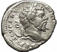 SEPTIMIUS SEVERUS 197AD Silver Ancient Roman Coin Victory Cult  i53224