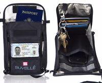 Suvelle RFID Blocking Neck Pouch & Anti-Theft Passport Holder Travel Wallet NEW