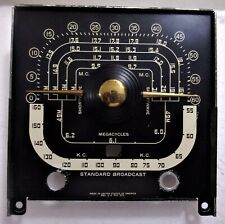 Zenith Trans-Oceanic G500 (1949-51) Black Metal Dial Scale & Pointer - For Parts