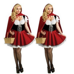 Adult Ladies Little Red Riding Hood Costume Party Cosplay Fancy Dress New Design