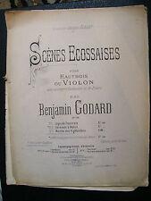 Partition Scènes Ecossaises Hautbois Violon Godard Marche des Highlanders