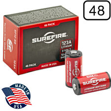 Surefire SF123A Box of 48 123A 3 Volt Lithium Batteries (48-Pack) EXP in 05/2028