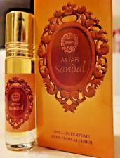 Attar Sandale 8ml par Ahsan Santal Épicé en Bois Ambre Musc Huile Parfum à Bille