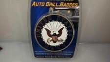 """US Army Airborne Screaming Eagles Grill Badge Car Truck 3"""" Nr Brass"""