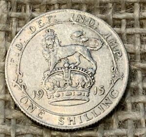 1915 George 5th Silver Shilling