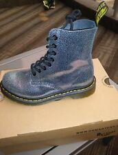 NIB Dr. Martens  Women 8-Eye Boot Pascal Grey TP Split Leather size 5 woman