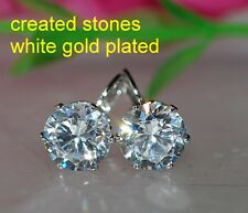 8mm 3ct x2 round DIAM0NDS earrings studs