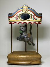Hand Painted Porcelain Willitts Designs Cat Music Box Carousel 2233/9500