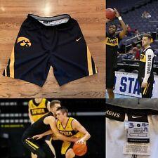 Authentic Nike Iowa Hawkeyes Jordan Bohannon game worn jersey basketball shorts
