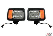 L+R For JCB Telehandler Loader Loadall Headlights Head Led Lights Wired Headlamp