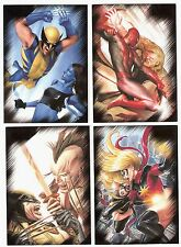 2009-11 GET 4 MARVEL TRADING CARD SETS SPIDERMAN,DIVAS,UNIVERSE,HEROES VILLAIN