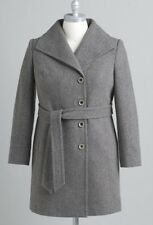 ladies women's winter tweed trench Wool blend coat jacket plus size 1X 2X  $200