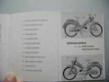 DKW Bedienungs-Anleitung Hummel Moped 1950er