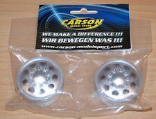 Carson 500530907 1:14 Front Aluminium Truck Wheels, Euro Look 1 Pair (Tamiya)