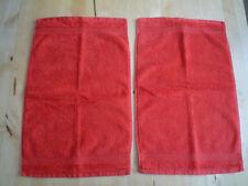 2x Ikea Gästetuch BAVEN 30 x 50 cm, rot-orange