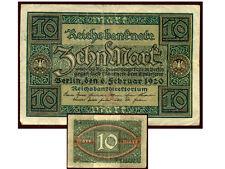 ALLEMAGNE  10 mark 6 / 2 / 1920