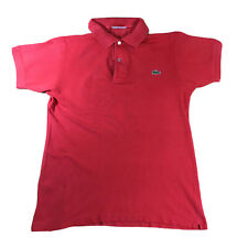 Vintage Lacoste Chemise Polo Camisa Top | Rojo Talla 3 S Pequeño