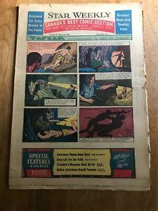 Star Weekly Comics Section - Toronto Dec 25, 1954 - Tarzan Superman Flash Gordon