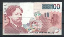 """Belgique Billet - 100 Francs """"James Ensor"""" 1995/2001 - KM N°147"""