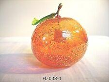 FL-038-3-  Eine Stück Mundgeblasenem Orange aus Murano Glas