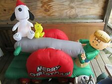 Peanuts Snoopy Woodstock Christmas Animated Seesaw Airblown Inflatable Outdoor